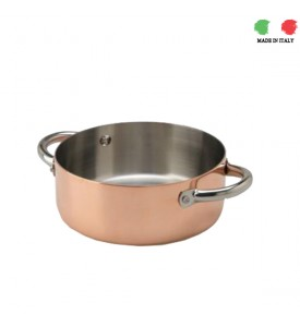 Base Copper Casserole Agnelli 24cm