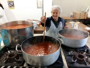 Italian nonna cooking matriciana sauce