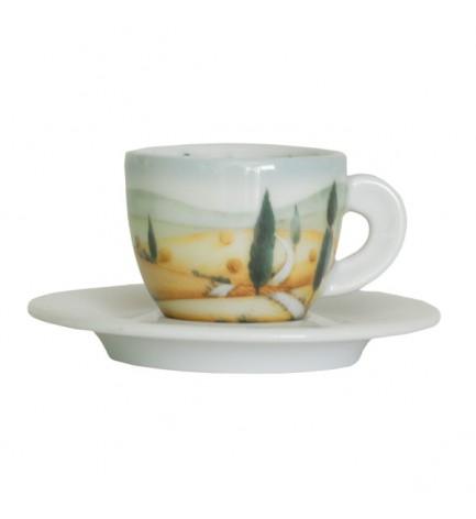 "6 Coffee Cups - Decor ""Italian Landscapes"""