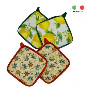 Pot holders of Recycled Fabric from Italy
