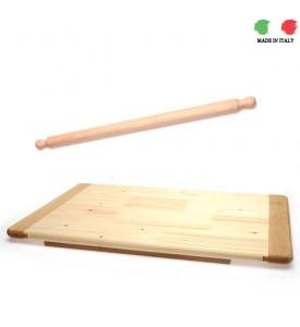 Pasta Wooden Board & Italian Rolling Pin