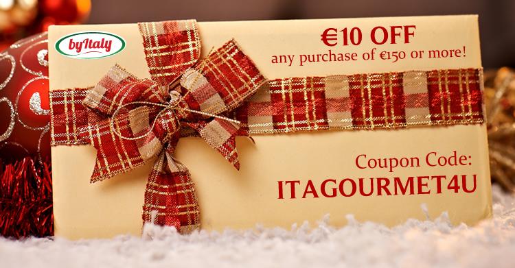 €10 Coupon Code Italian Food Online Shop